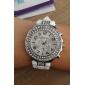 cas de diamand bande de silicone quartz analogique montre-bracelet des femmes (couleurs assorties)