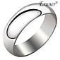 Eruner®Unisex Silvery Titanium Steel Ring