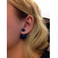 여성용 스터드 귀걸이 베이직 디자인 미니멀 스타일 의상 보석 합금 Circle Shape 볼 보석류 제품 파티 일상 캐쥬얼