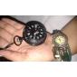 Homens Relógio de Bolso Quartzo Lega Banda Vintage Preta