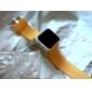 unisex røde ledet digitale gelé gul silikon bandet armbåndsur