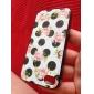 아이폰 4 / 4S를위한 신선한 장미 패턴 검은 다시 프레임 케이스