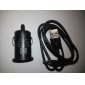 Car Charger and USB Data Cable for Samsung Galaxy S4 I9500, S3 I9300 and Note 2 N7100
