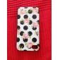 Fresh Rose Pattern Black Frame Back Case for iPhone 4/4S
