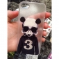 The Panda Wearing Glasses Pattern PC  Hard Case for iPhone 5/5S