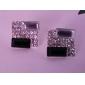Women's Korean OL noble black and white box Twinkle diamond earringsE549