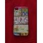 correspondant à grain de bois motif cadre noir au dos du boîtier pour iPhone 4 / 4S