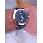 Hommes Montre Bracelet Calendrier Etanche Quartz Polyuréthane Bande Noir Marron
