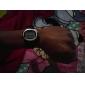 Мужской Наручные часы LCD Календарь Секундомер тревога Пульсомер Цифровой Pезина Группа Черный