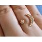 shixin® 패션 여성의 크리스탈 합금 문 링 (황금) (1 개)