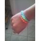 (3PC) Beautiful Fashion Fluorescent Color Can Stretch Silicone Bracelet (Color Random)
