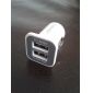 Dual-port USB Car Charger for iPhones and iPads (White)
