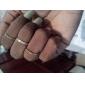 Stack Plain Above Knuckle Ring Set 4pcs/set 14mm/15mm/16mm