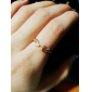(1 Pcs) Diamond Notes Threaded Opening Adjustable Ring