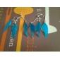 métal chaud et les boucles d'oreilles plumes (plus de couleurs)