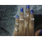 (7PC) Tide of Fashion and Personality Female Joint Punk Rivet Joint Gold-plated Ring