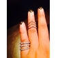 Ring Party / Daily Jewelry Alloy / Rhinestone Couples Band Rings Gold / Silver