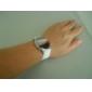 surface de miroir rond des femmes a conduit montre silicone bracelet numérique (couleurs assorties)