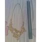 Femme Colliers Déclaration Forme de Fleur Alliage Ajustable Beige Bijoux Pour Soirée Quotidien 1pc