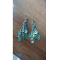 Vintage Peacock Earrings With Colorful Gem