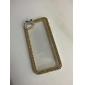 strass cristal de luxe diamant bling couverture rigide transparent clair de cas pour l'iphone 5 / 5s