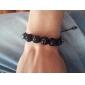 Z&X®  Sweet Type Colorful Rhinestone Faceted Bead Knit Bracelet