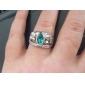 старинные хоббит Арагорн кольцо ретро Хоббит античный серебряный зеленый кристалл для мужчин и женщин оптом