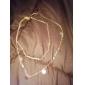 Жен. Ожерелья с подвесками Бирюза Бижутерия Позолота Бирюза Сплав Базовый дизайн Двойной слой По заказу покупателя Мода Золотой Бижутерия