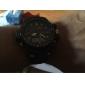 SKMEI Мужской Спортивные часы LCD Календарь Секундомер Защита от влаги С двумя часовыми поясами тревога Кварцевый Японский кварц Pезина