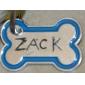 Dog Tag ID Tag Waterproof Bone Silver Alloy