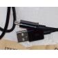 Micro USB vers USB mâle à mâle câble de données pour Samsung / Huawei / ZTE / Nokia / HTC Noir (1M)