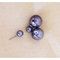 Women's Beads Stud Earrings Ball Earrings Double Sided Double Pearls Costume Jewelry Imitation Pearl Acrylic Round Jewelry For Party