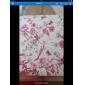 Brilhante de cor Capa de Couro da videira da flor Projeto 360 graus de giro do plutônio e suporte para iPad 2/3/4