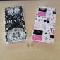 Для Кейс для iPhone 5 Чехлы панели Ультратонкий Прозрачный С узором Задняя крышка Кейс для Черный и белый Твердый PC дляiPhone SE/5s