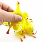 Mini Squeezed laying Egg Hen Rubber Toy Stress-Reliever Practical Joke(9x6x6cm,1PCS)