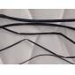 1M Noir gaine thermorétractable - Cinq Taille Pack (0.8/1.5/2.5/3.5/4.5mm)