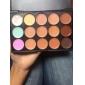 15 cores 3in1 camuflagem profissional naturais facial corretivo / fundação / maquiagem bronzer paleta cosmética