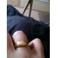Anéis Casamento / Pesta / Diário / Casual Jóias Liga Masculino Anéis Grossos10½ Dourado
