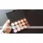 8pcs manche noir or cosmétique de maquillage brosse ensemble&15 couleurs anticernes naturelle (2 cache-cernes de couleur choisir)