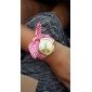 Женские Нарядные часы Модные часы Наручные часы Часы-браслет Цветной Кварцевый Материал Группа Винтаж Цветы С подвесками Черный Белый