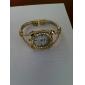 Reloj Analógico para Mujer con Corona Elegante (Dorado)