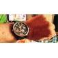 SKMEI 남성 밀리터리 시계 손목 시계 디지털 시계 LCD 달력 방수 쓰리 타임 존 석영 디지털 일본 쿼츠 고무 밴드 럭셔리 블랙