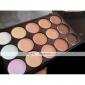 8pcs makeup set Professional/Eco-friendly/Full Coverage Silver/Black blush/powder shadow brush set with 15 Colors Concealer(2 Color Choose)