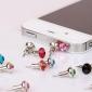 아이폰과 삼성 (임의의 색상)에 대한 toophone® joyland 3.5MM 타워 크리스탈 금속 bisonfone 및 안티 먼지 플러그