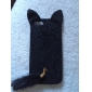 Conception de chat de cas de dos de textile pour iPhone 5/5S (couleurs assorties)