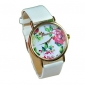 Mulheres Relógio de Moda Quartzo PU Banda Flor Boêmio Preta Branco Azul Vermelho Laranja Verde Rosa Roxa Azul Marinho Rose