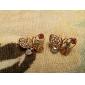 Femme Boucles d'oreille goujon bijoux de fantaisie Perle Strass Alliage Forme d'Animal Papillon Bijoux Pour Soirée Quotidien