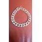 Shiny Light Gold Chunky Aluminium Curb Chain Necklace