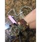 falta rose®multilayer aves de caça de liga artesanais pulseiras de couro