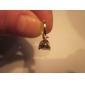 여성의 새로운 패션 여러 가지 빛깔의 18K 골드 도금 지르콘 귀걸이